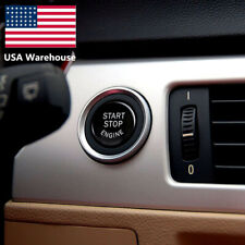 For BMW E90 E91 E60 E84 E83 E71 E72 Black Engine Start Stop Switch Button Cover