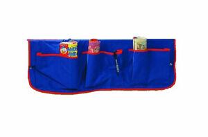 Blue Bedside Pocket Tidy For Kids Bed - Free Delivery