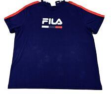 Mens size 4XL Blue FILA Plus Adrian T-shirt / Tee *NEW* BNWT