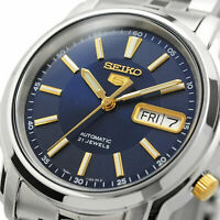 SEIKO 5 SNKL79 SNKL79K1 Automatic 21 Jewels Blue Dial Stainless Steel Men Watch