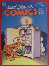 WALT DISNEY COMICS STORIES 100 DELL SILVER AGE COMIC CARL BARKS DONALD 1949 FN-