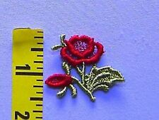 """Red Rose Sew-on Patch Flower Sew-on Venice Lace Applique 2 1/4"""" x 2 3/4"""" #24"""