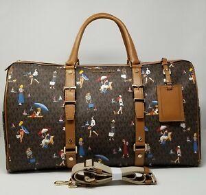 Michael Kors Signature Jet Set Sailor Girls Bedford Travel XL Weekender Bag