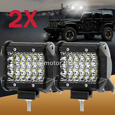 "2x 4"" Inch 580W Spot / Flood Beam LED Work Light Off Road Car Truck Boat 12V 24V"