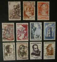 Lot timbres France oblitérés