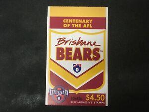 1996 AUSTRALIA CENTENARY OF AFL BOOKLET 10 X 45C BRISBANE BEARS P&S - MINT