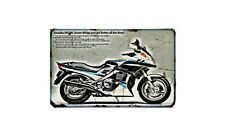 Fj1200A Motorbike Sign Metal Retro Aged Aluminium Bike