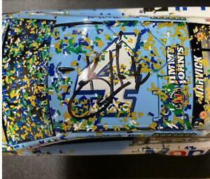 SIGNED 2018 KEVIN HARVICK #4 MICHIGAN RACE WIN BUSCH LIGHT MOBIL 1 1/24 CAR