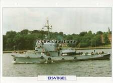 1960 EISVOGEL Auxiliary Support Tug Ship / Germany Warship Photograph Maxi Card