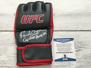 Legend Randy The Natural Couture Signed Autographed UFC Glove Beckett BAS COA f