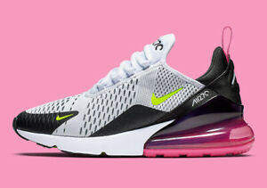 Nike Air Max 270 VOLT FUCHSIA WHITE BLACK PINK AH8050-109 Running Retro Men's