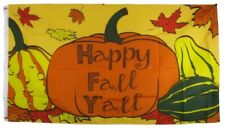 3x5 Happy Fall Yall Thanks Giving Pumpkin Squash Flag House Banner Grommets