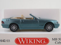 Wiking 014203 Mercedes-Benz 500 SL Cabrio (1991) in beryll met. 1:87/H0 NEU/OVP