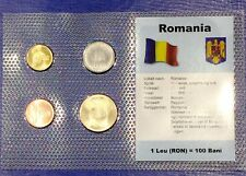 Romania 1 - 50 bani 2006-2007 XF UNC Circulation Coin Set - World Currencies