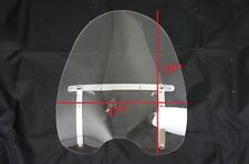 "Universal clear windshield wind shield fits all cruisers with 7/8"" 1"" handle bar"