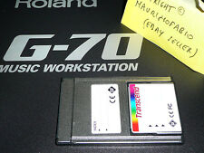 memory card per Roland G70 G-70 adapter + styles + midi songs + UPG pcmcia srx