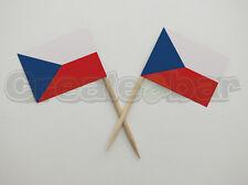 72 Czech Flag Picks - Buffet Sandwich Cupcake Toppers - Czech Republic Flags
