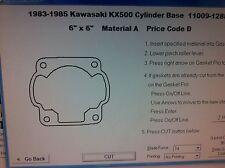 Kawasaki KX500  Cylinder Base Gasket 1983 1984 1985