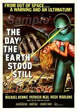 VINTAGE THE DAY THE EARTH STOOD STILL MOVIE POSTER A4 PRINT