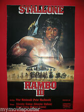 RAMBO III 1988 SYLVESTER STALLONE UNIQUE EXYU MOVIE POSTER
