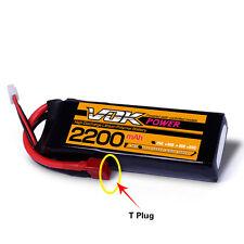Discharger Plug T-Plug 11.1V 2200mAh 25C 3S VOK Lipo Battery for RC Quadcopter