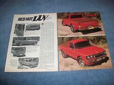 "1977 Chevy LUV Pickup Vintage Custom Mini-Truck Article ""Red Hot LUV"""
