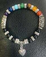 7 Chakra Bracelet Crystals Healing Stones Beads Jewellery Reiki anxiety