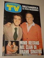 TV SORRISI CANZONI=1975/3=FRANK SINATRA=MINO REITANO=BARRY WHITE=ORIENT EXPRESS=