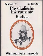Auktion 178 1986 Physikalische Instrumente, Radios Waltraut Boltz Bayreuth