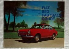 Fiat 850 Fastback Coupe Sales Brochure Advertising c 1968 Car Auto