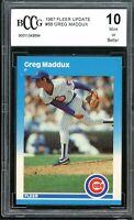 1987 Fleer Update #68 Greg Maddux Rookie Card BGS BCCG 10 Mint+