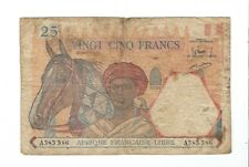 French Equatorial Africa - 1941, 25 Francs