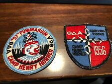 Lot of 2 Camp Henry Horner Camp Patches