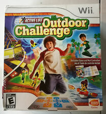 New Nintendo Wii Active Life OutDoor Challenge Kids Game And Mat Controller