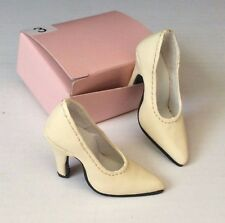 """CANDI 16"""" Real Leather Fashion Doll Shoes CREAM COLOR fit Ellowyne Tylernew"""
