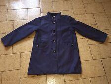 Manteau  aspect laineux taille 46/48 bleu