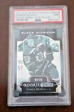 17-18 Black Diamond Rookie Gems Pure Black CHARLIE MCAVOY #d/25 PSA 9 MINT HOT!!