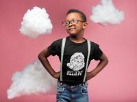 Youth Toddler Believe Santa Claus T Shirt Christmas Xmas Holiday Boys Girls Tee