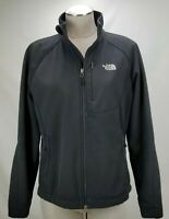 The North Face Womens Softshell Jacket Coat Size Large Black Stretch Full Zip