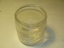 VINTAGE BURMA SHAVE GLASS JAR