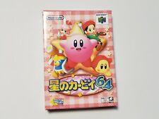 Nintendo 64 Kirby 64 The Crystal Shards boxed Japan N64 game US Seller