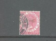 Straits Settlements, Queen Victoria, 4c, Fine Used.