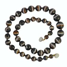 Antique Victorian Natural Banded Agate Necklace