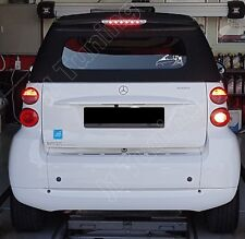 Smart 451 ForTwo Cabrio Coupe LED 3rd brake stop light lamp -Silver/Clear Lens