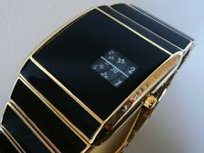 GOLD 70s 1970s Vintage Retro Rotolog Style Led Digital Lcd era Watch Jump Hour