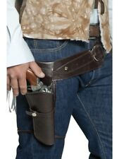Authentic Western Wandering Gunman Belt & Holster Smiffys Fancy Dress Accessory