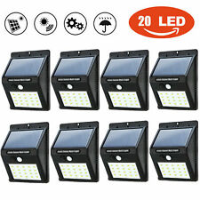 New 20LEDs Solar Power Road Motion Sensor Wall Lamp Waterproof Garden Lamp Light
