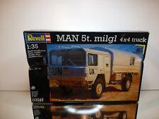 REVELL 03049 MAN 5t MILGL 4x4 TRUCK UN - WHITE 1:35 - UNBUILT IN BOX