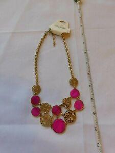 Carol Dauplaise necklace NEW NOS ONESZ 85101-FUS-G adjustable Gold Tone