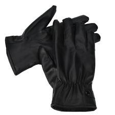 Men Fashion Winter Warm Cashmere Leather Outdoor Driving Waterproof Gloves BK